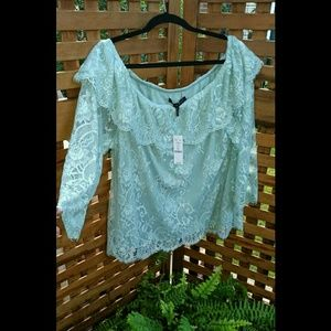 WHBM lace blouse